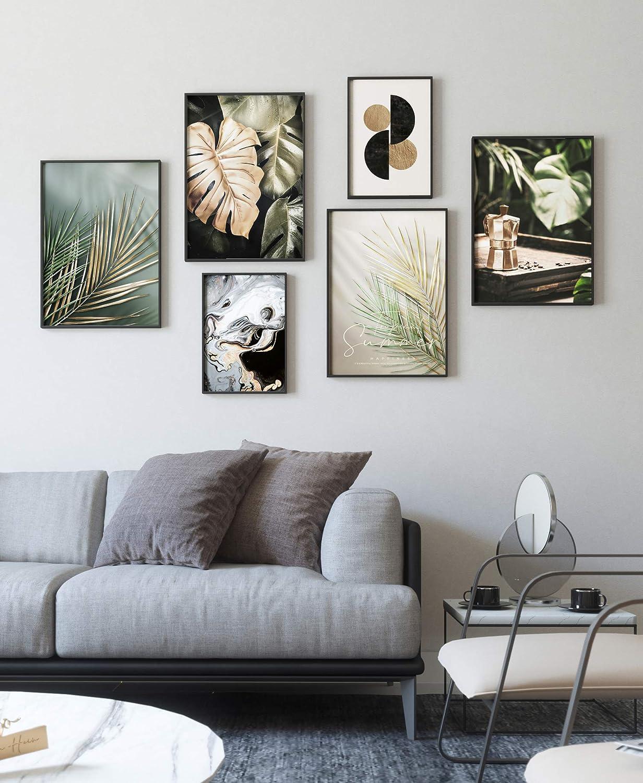 myestado Premium Poster Set Bilder Wohnzimmer Modern Schlafzimmer Bild für Ihre Wand ohne Rahmen 4 x DIN A3 & 2 x DIN A4 ca 30x42 & 21x30