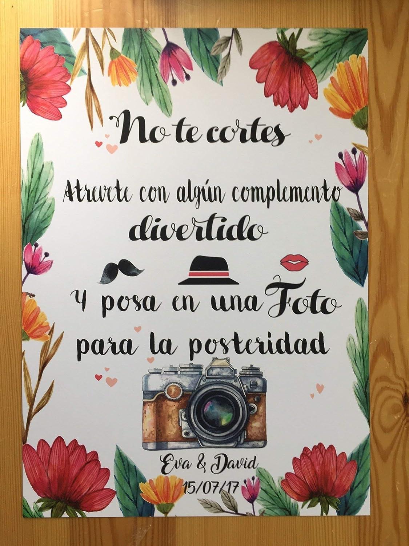 Cartel para el Photocall en Bodas, comuniones y eventos ...