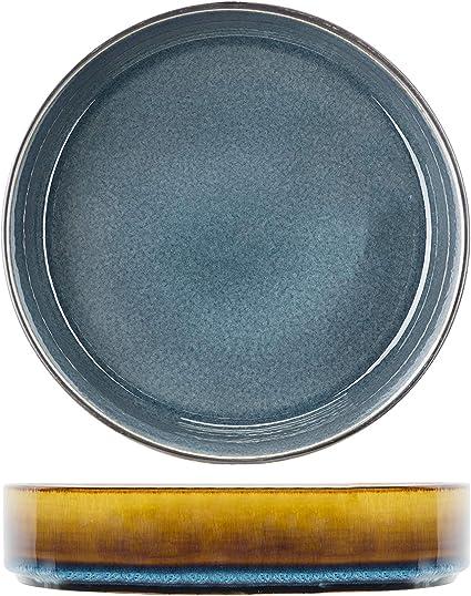 Cosy /& Trendy AFinesse Bleu Assiettes Creuses ceramique D20xh6.2cm Lot de 6