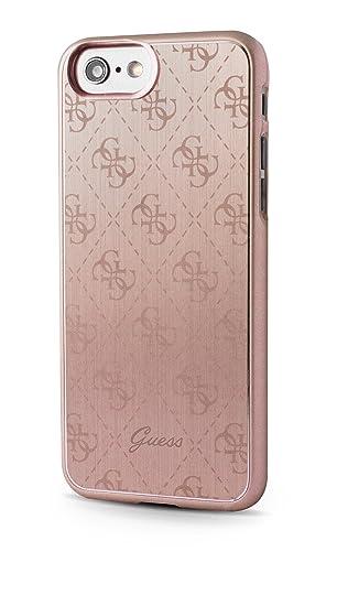 brand new 86aa4 42696 Guess GUHCP7MEPI Aluminium Hard Case for Apple iPhone 8: Amazon.co ...