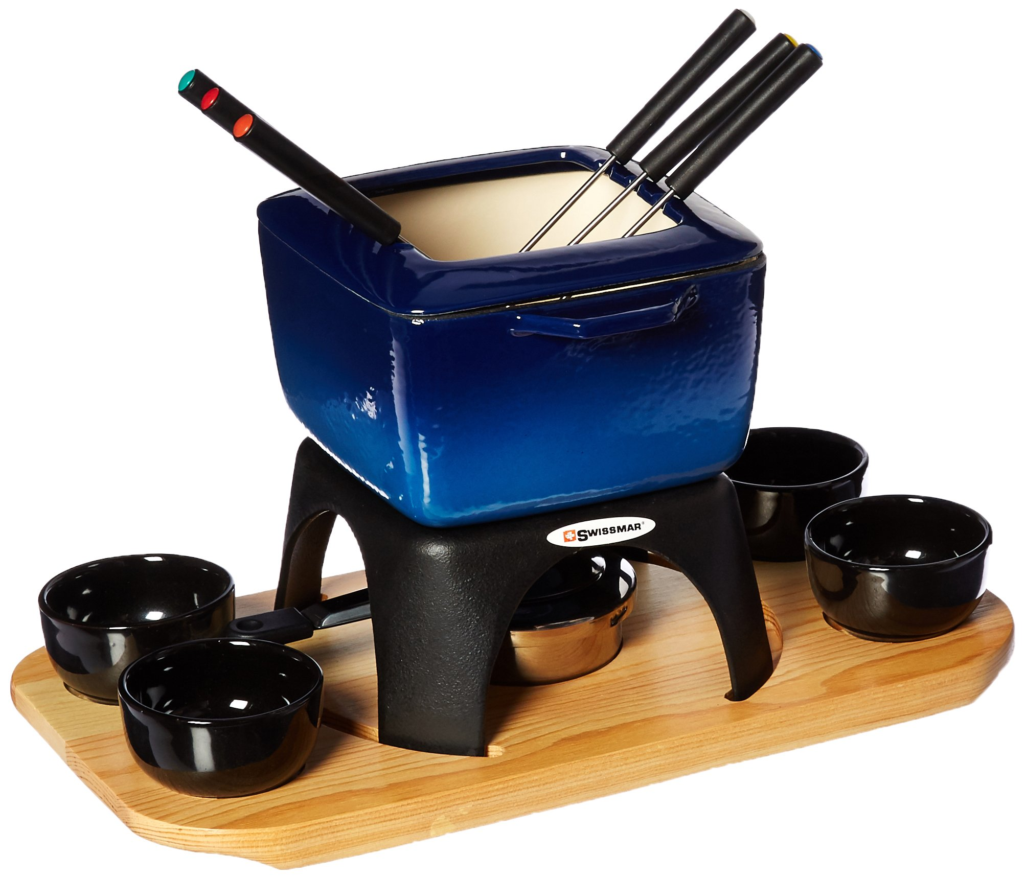 Swissmar Montblanc Meat Fondue, 15 piece, Blue