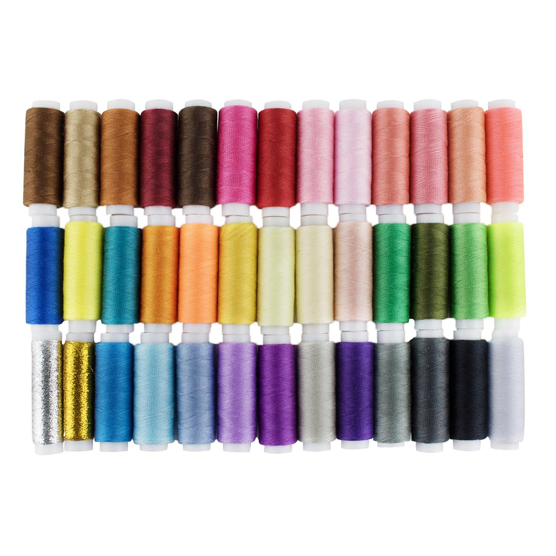LIHAO Hilos de Coser de Poliéster Hilos de Colores Set (39 Colores) product image
