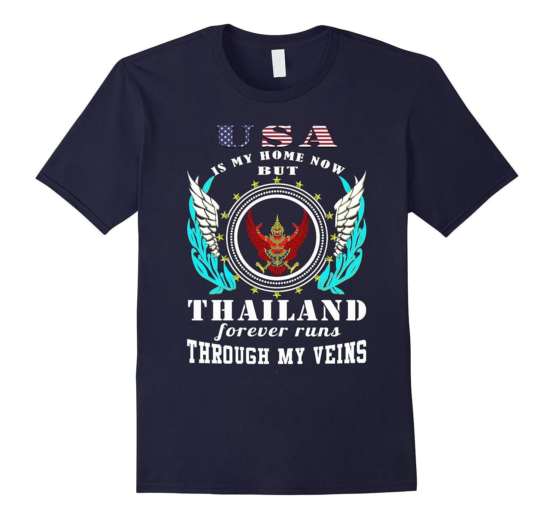 Thailand forever runs through my veins gifts tshirt-Vaci