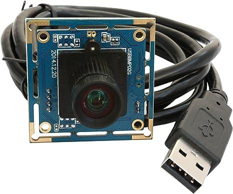 ELP Webcam 8MP modulo fotocamera USB con 75 gradi senza distorsione obiettivo