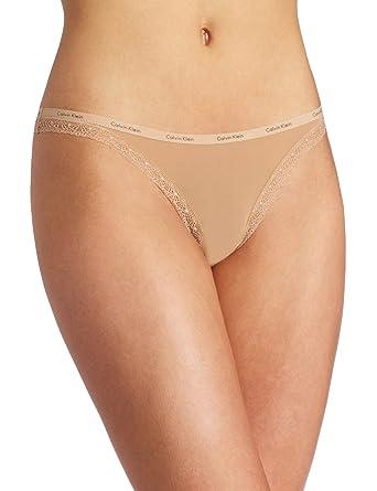 62c2d800ef45 Calvin Klein Women's Bottoms Up Thong Panty at Amazon Women's ...