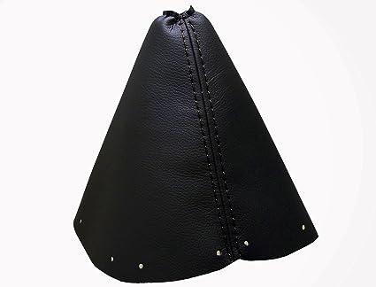 Funda Palanca de Cambios 100/% Piel Color Negro Compatible PEUGEOT407 2004-2011