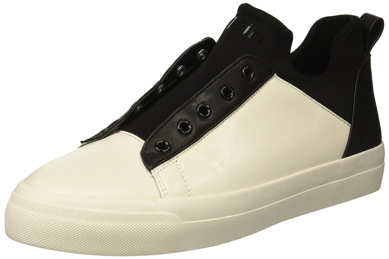 Calvin Klein Women's Valorie Sneaker B078DPBKJ3 6.5 M US|White/Black
