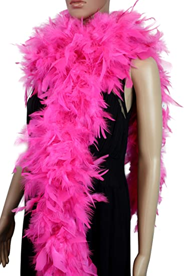 Hot Pink 100 Gram Chandelle Feather Boa Dance Party Halloween Costume
