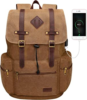Modoker Stylish Smart Canvas Backpack