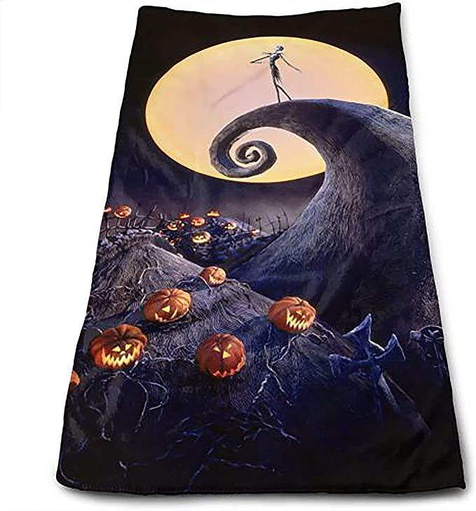 Nightmare Before Christmas Plush and Absorbent Fingertip Towels Hand Towels Jack and Sally