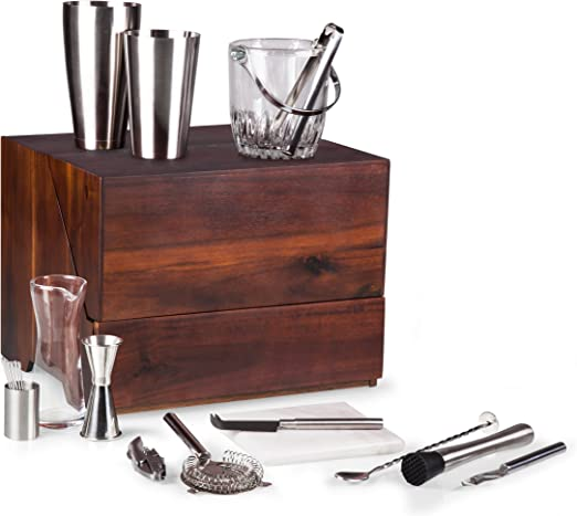 Acacia Box Bar Tools Set  **NEW**