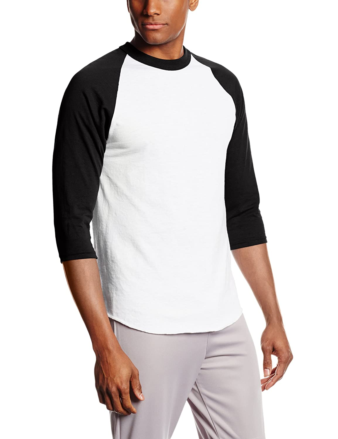 Amazon.com: MJ Soffe Men's 3/4 Sleeve Baseball Jersey: Sports ...