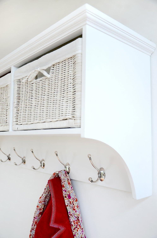 tetbury large white coat rack with storage baskets fully  - tetbury large white coat rack with storage baskets fully assembledamazoncouk kitchen  home