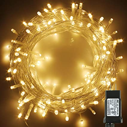 Pms 239ft 700 Led Christmas Lights Clear Cable Led Fairy String Lights With 8 Light Modes Low Voltage Output Ideal For Christmas Tree Home Garden