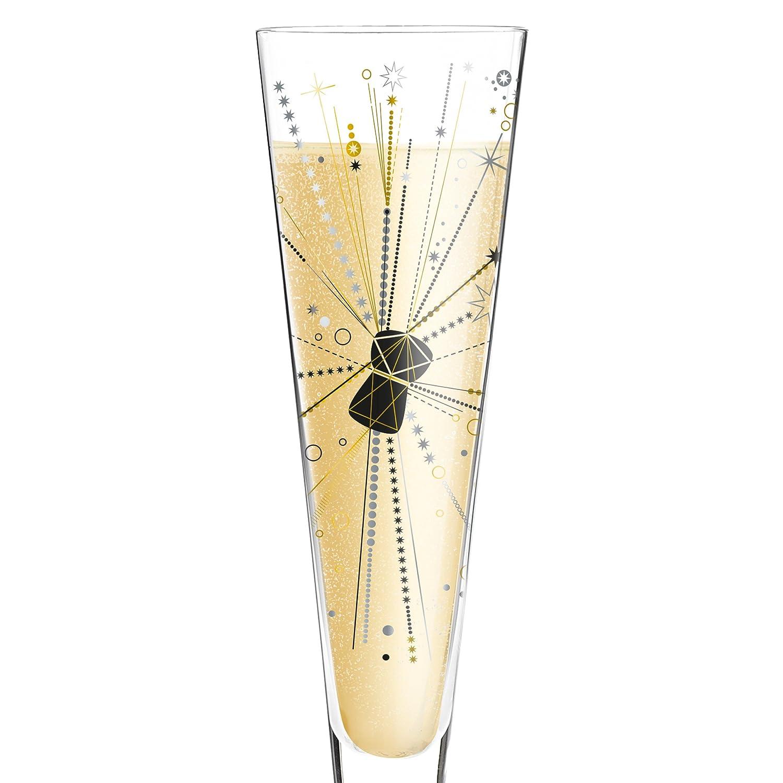 Cristal Noir//Or//Platine Ritzenhoff 1070242/Champus Verre /à Champagne 7/x 7/x 24/cm