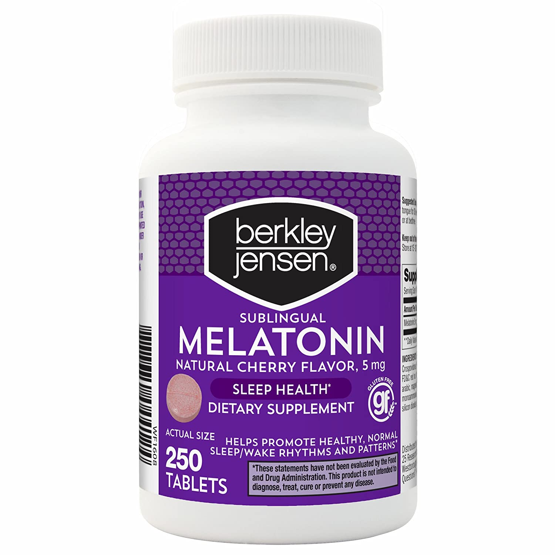 Amazon.com: Berkley Jensen QD Melatonin 5 mg., 250 ct. (pack of 2): Health & Personal Care
