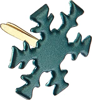 Green Snowflakes fasteners