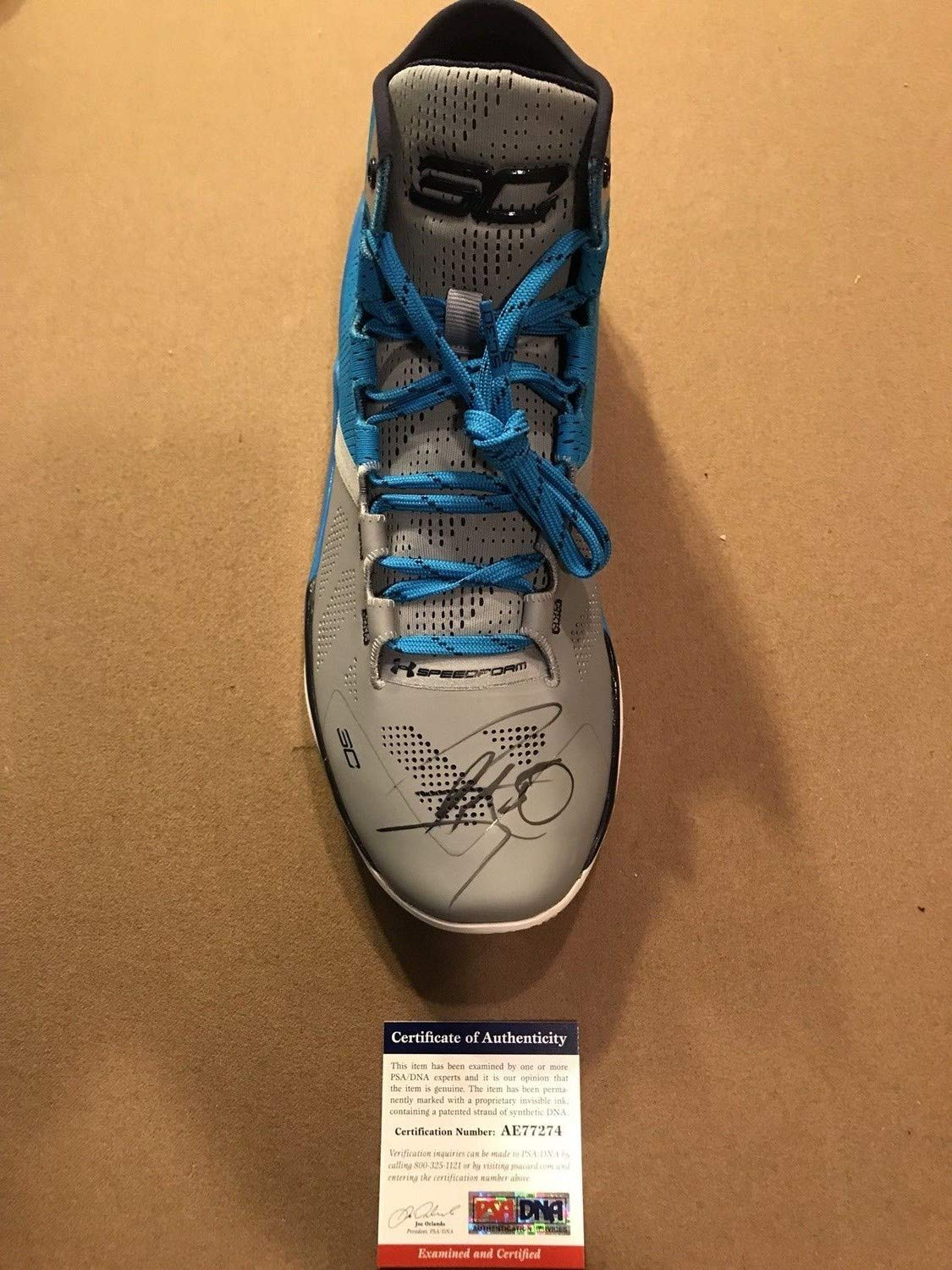 Steph Curry Autographed Signed Under Armour Curry Shoe PSA/DNA Warriors Mvp
