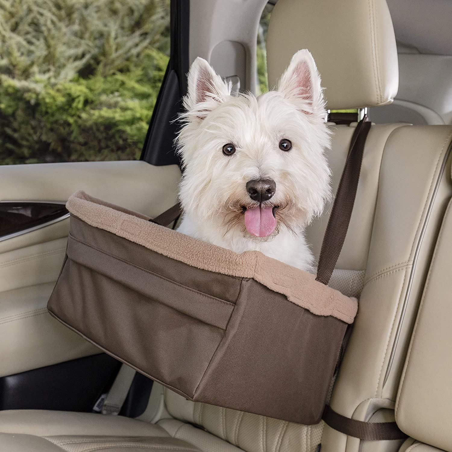PetSafe Solvit Tagalong Pet Booster Seat, Dog Booster Seat for Cars, Trucks and SUVs