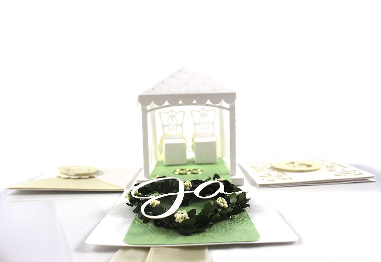 Geschenkbox Hochzeitsbox Aiyana Pers/önliche Hochzeitskarte Explosionsbox f/ür Geldgeschenke und Gl/ückw/ünsche an das Brautpaar