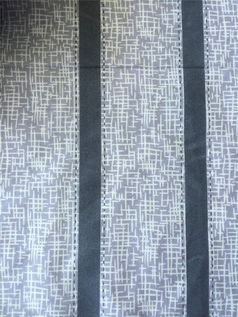 Ningkotex Grey Striped Print Cotton Blend Geometric Flat Sheet Queen Only