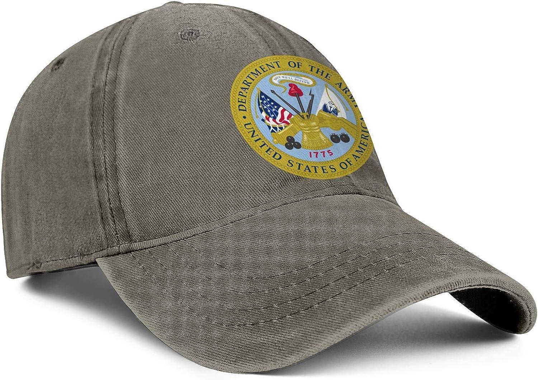Fishing Baseball Hat Unisex WomensComfortable Denim Dad Hat Sanpback United-States-Army