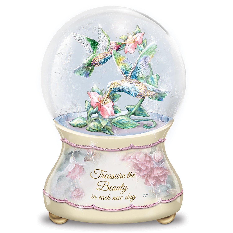 Lena Liu Beautiful Treasures Musical Glitter Globe:by The Bradford Exchange by Bradford Exchange (Image #1)