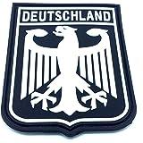 Deutchland Aigle Impérial Allemagne Blason Drapeau Noir Airsoft PVC Patch