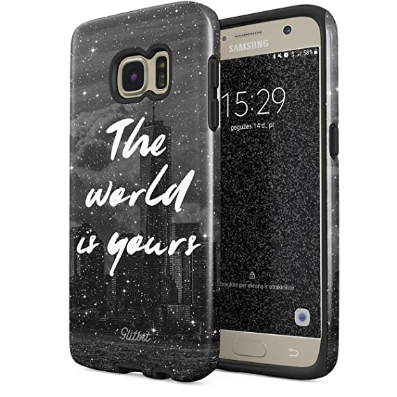 Amazoncom Glitbit Samsung Galaxy S7 Case The World Is Yours