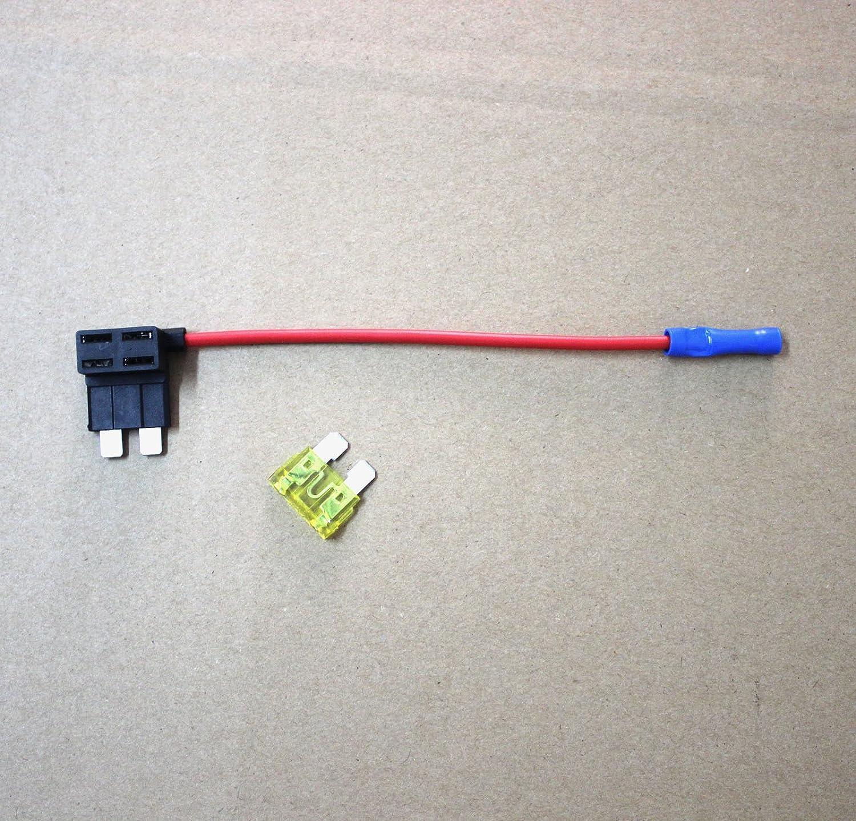 1pc A/ñadir un circuito Fusible GRIFO Piggy Soporte de Fusible de cuchilla para est/ándar ATO ACU 12/V