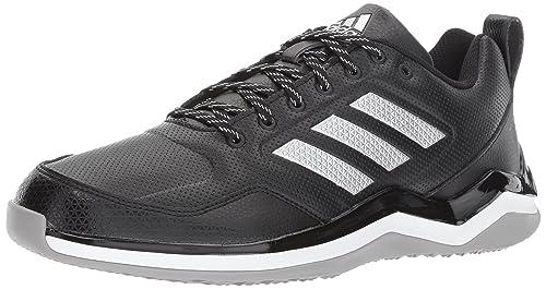 cheaper 32a64 a842b Adidas Performance Men s Speed Trainer 3 SL Baseball Shoe, Black Metallic  Silver White