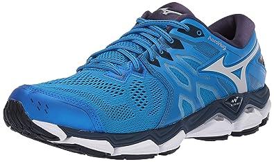 wholesale dealer 6c37b a8b9c Mizuno Men s Wave Horizon 3 Running Shoe, Brilliant Blue-Cloud 10 ...