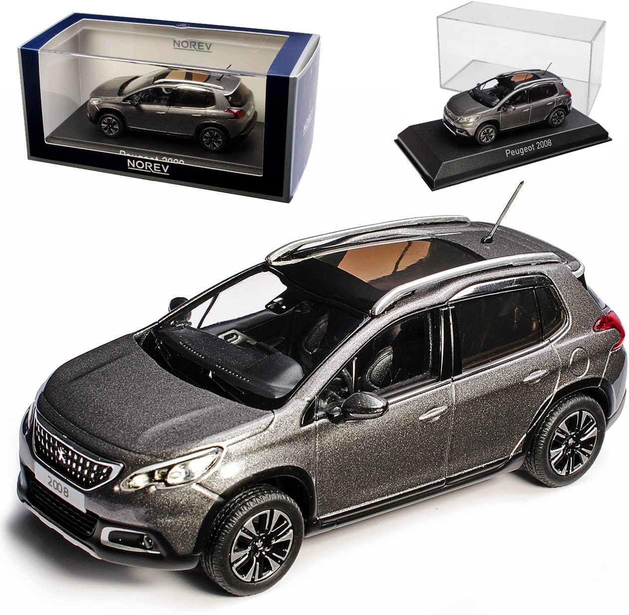 Peugeot 2008 SUV Platin Grau Ab 2013 1//43 Norev Modell Auto mit oder ohne indivi