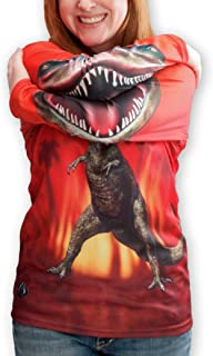 product image for MouthMan Unisex-Adult T-Rex Hoodie Shirt