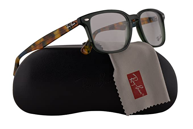 c1f3d34775 Ray-Ban RX5353 Eyeglasses 52-19-145 Opal Green w Demo Clear Lens ...