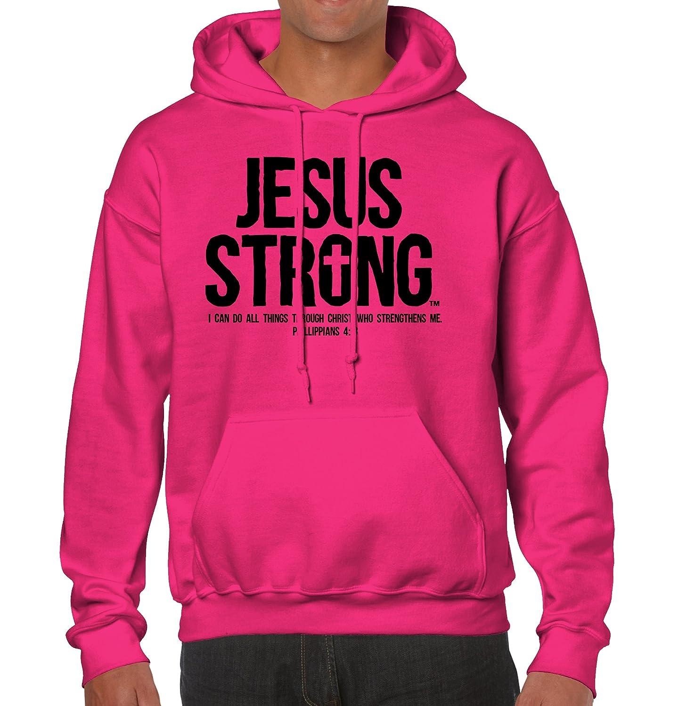 Jesus Strong Philippians Religious Bible Christ God Christian Hoodie ...
