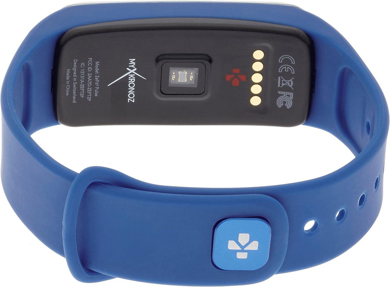 MyKronoz ZeFit2 Pulse - Pulsera de actividad y sueño con pulsómetro y notificaciones, color azul: Amazon.es: Electrónica