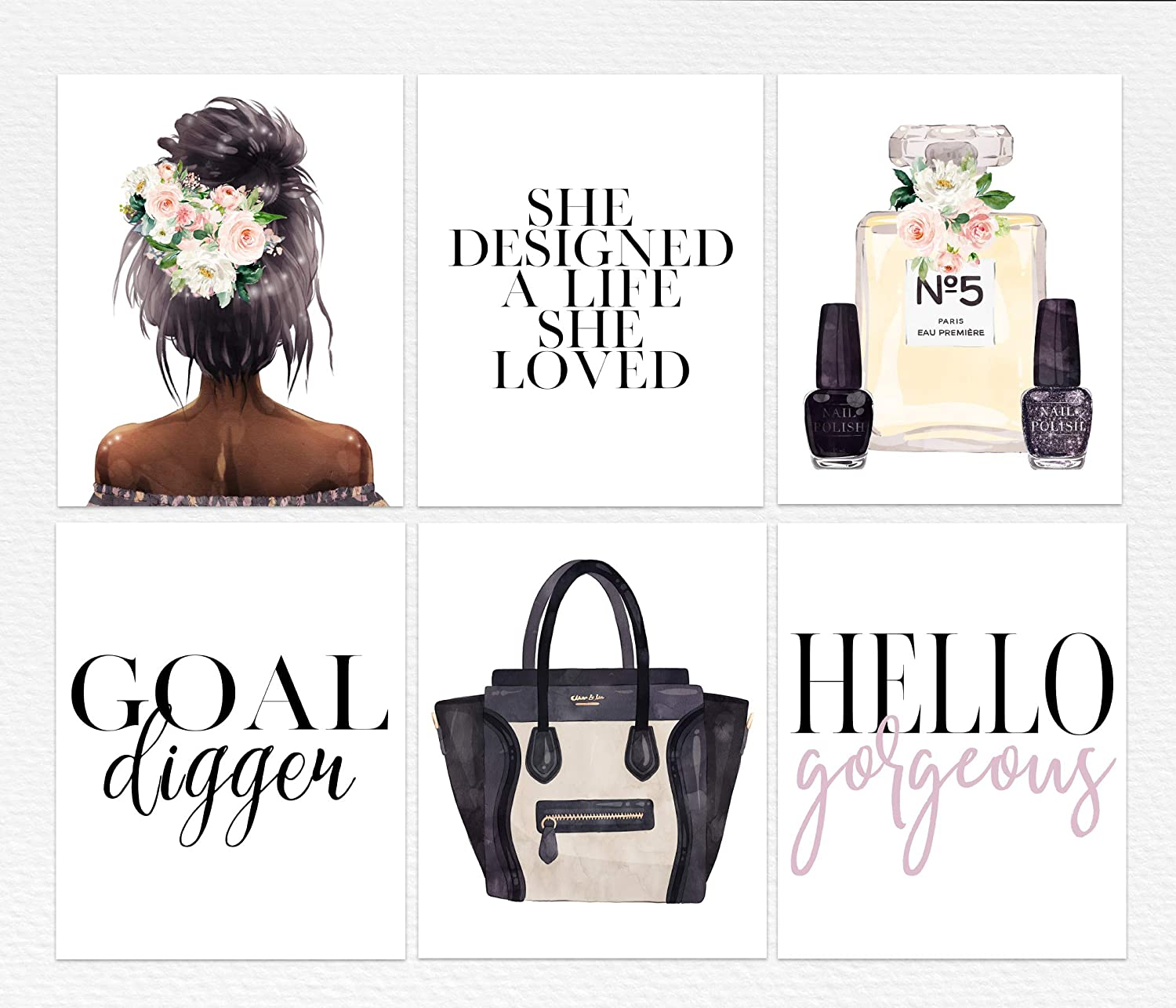She Designed a Life Loved Inspirational Home Quote Gallery Wall Art Print Black