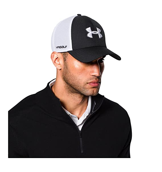 Amazon.com  Under Armour Men s Golf Mesh Stretch 2.0 Cap 96fe96d470e