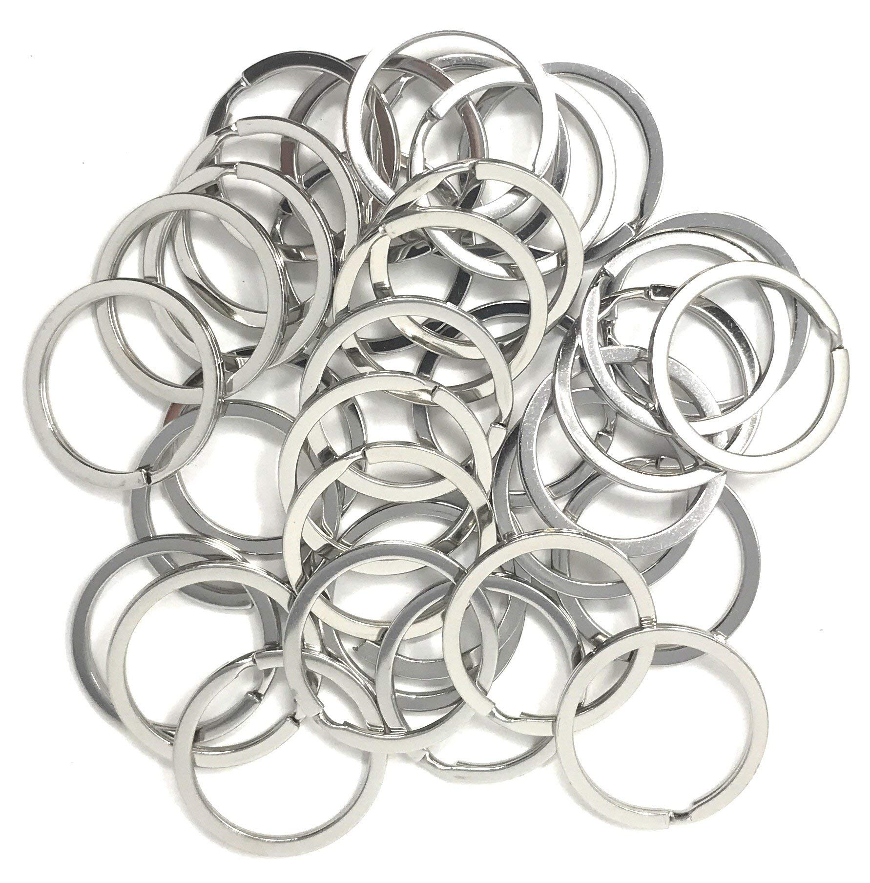1000 Bulk Flat 1.25'' Large Stainless Steel Split Key Ring Findings / Jump Rings - Perfect for Jewelry Making Projects and Resale by Sea View Treasures