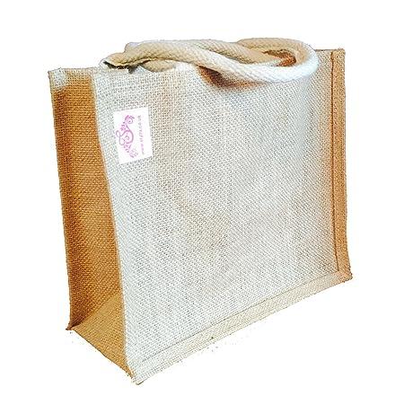 b89fe8ac379 Stylla London Eco Friendly Handmade Premium Quality Jute Shopping Bag  Grocery Lunch Christmas Gifts Bag (