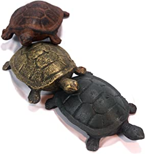 Turtle Friends Cast Iron Garden Ornaments - Set of 3