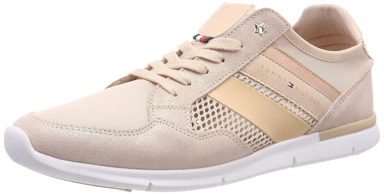 Tommy Hilfiger Damen Metallic Light Weißht Sneaker, Pink (Dusty Rose 502)
