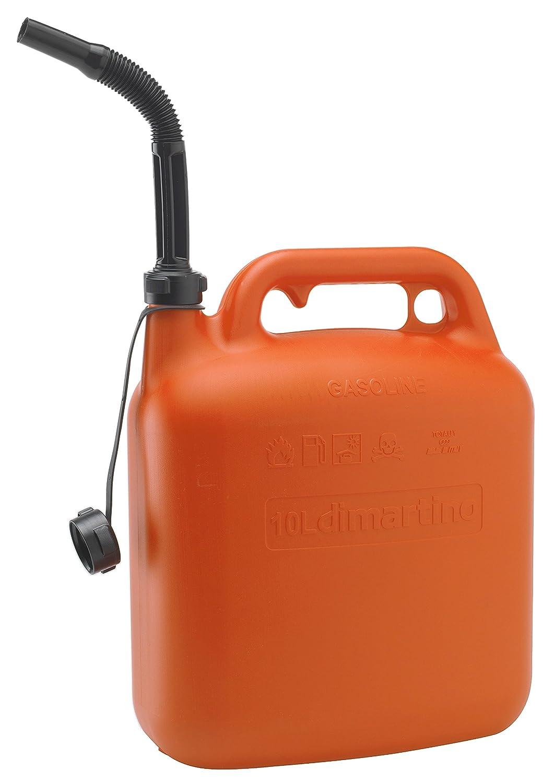 Di Martino 54103 10 L naranja//negro Bid/ón de pl/ástico de gasolina
