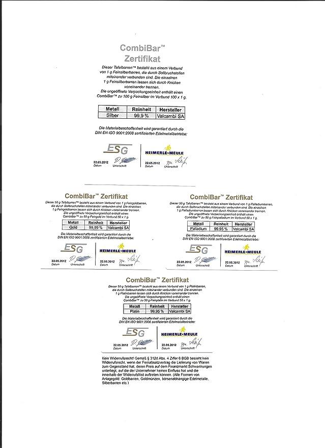 Amazon.de: Goldbarren 1g 1 Gramm Motivbox \