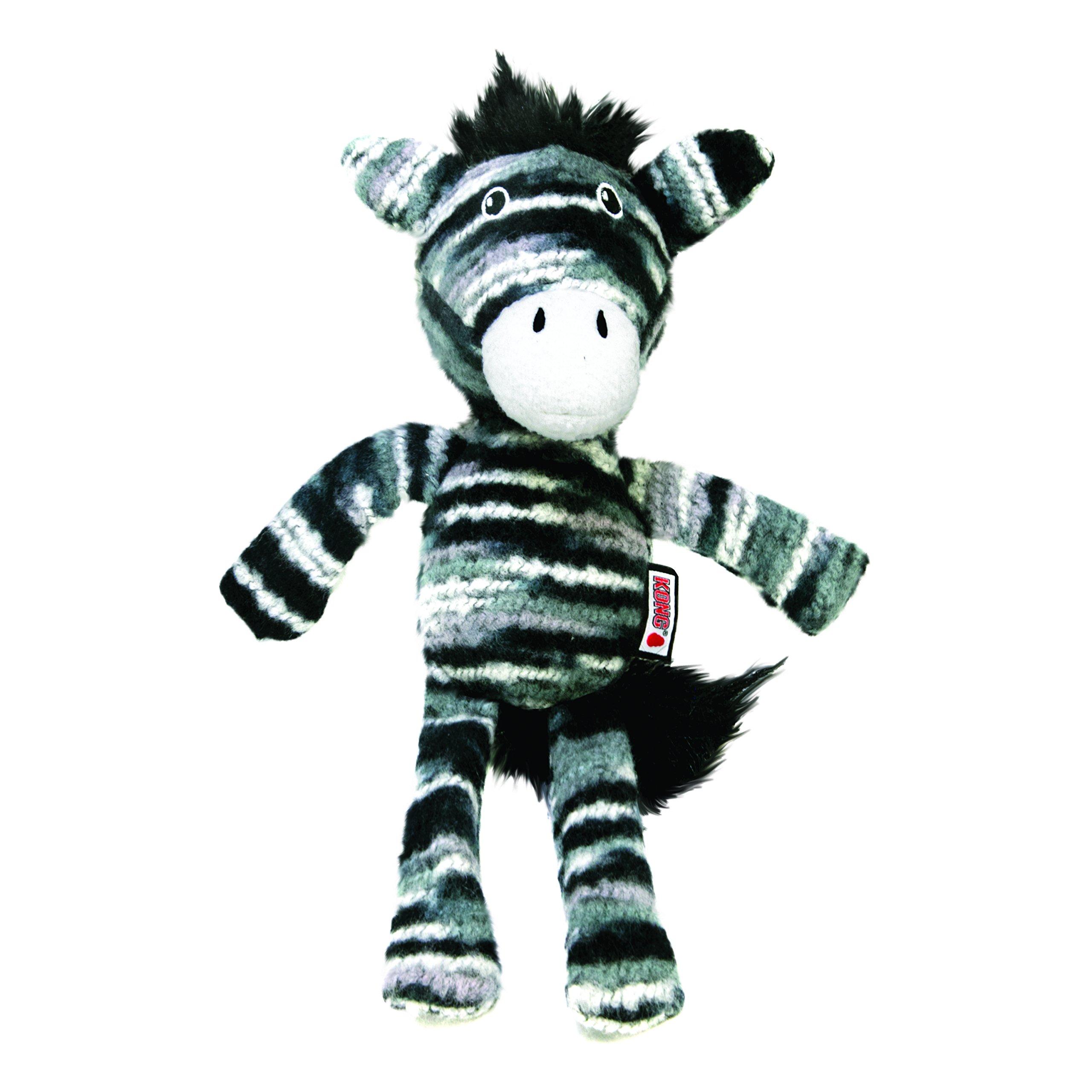 KONG Yarnimals Zebra Med/Lg Dog Toy Dog Toy