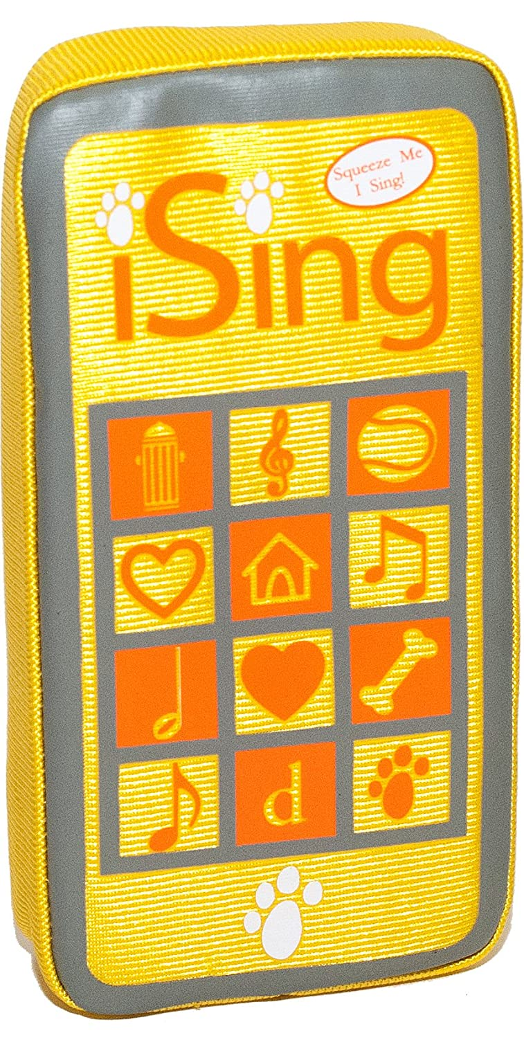 Celebrity Pet Toys Ising Musical Dog Toy 'Pet Me' Yellow