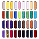 36 Colors Waxed Thread,1188Yards Colorful Leather