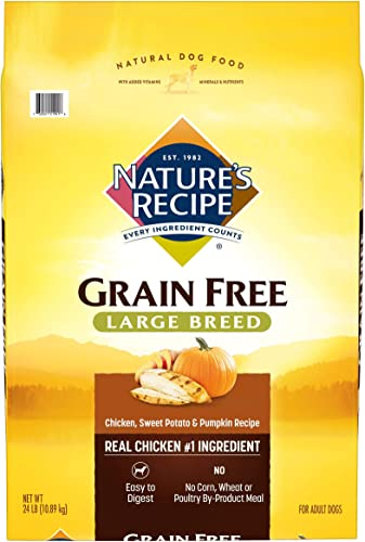 Nature's Recipe Grain Free Dry Dog Food Large Breed Chicken, Sweet Potato Pumpkin Recipe