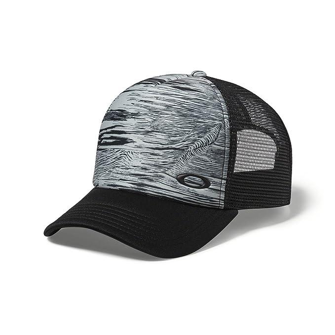 82b04b4049d7af Oakley Mens Mesh Sublimated Trucker Adjustable Hat One Size Blackout ...